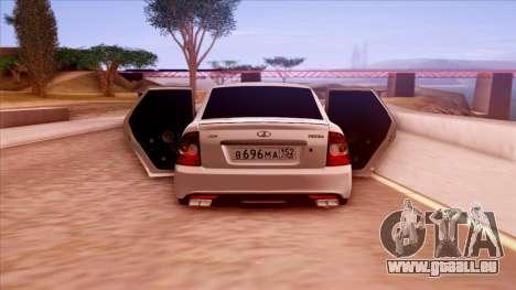 Lada Priora Autozvuk v.1 pour GTA San Andreas vue intérieure