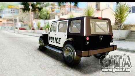 Canis Mesa Police für GTA San Andreas rechten Ansicht
