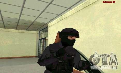 La peau de SWAT GTA 5 pour GTA San Andreas quatrième écran