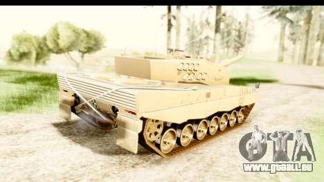 Leopard 2A4 pour GTA San Andreas laissé vue