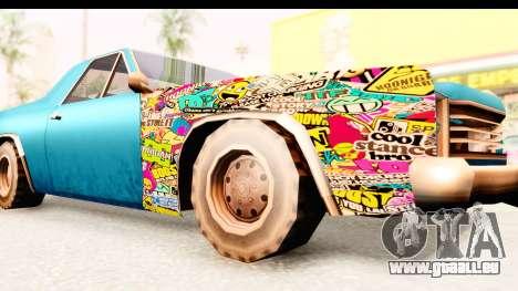 Picador Sticker Bomb pour GTA San Andreas vue arrière