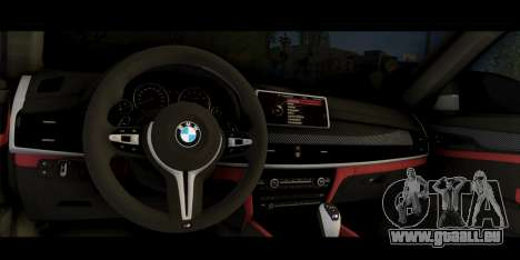 BMW X6M F86 pour GTA San Andreas vue de droite