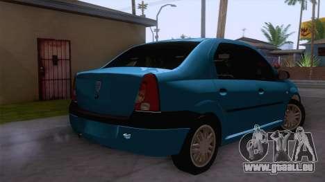 Dacia Logan Prestige 1.6L 16V für GTA San Andreas zurück linke Ansicht