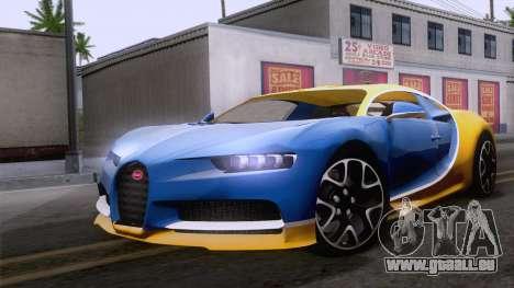 Bugatti Chiron 2017 v2.5 für GTA San Andreas
