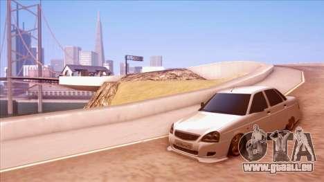 Lada Priora Autozvuk v.1 pour GTA San Andreas vue de droite