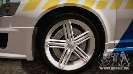 Audi RS6 Hungarian Police für GTA San Andreas Rückansicht
