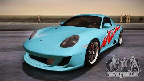 Ruf RK Coupe (987) 2007 HQLM pour GTA San Andreas sur la vue arrière gauche