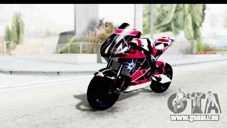 Dark Smaga Motorcycle with Frostbite 2 Logos für GTA San Andreas