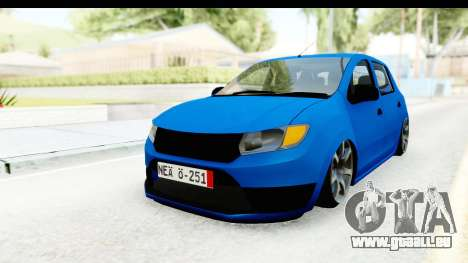 Dacia Sandero 2013 pour GTA San Andreas vue de droite