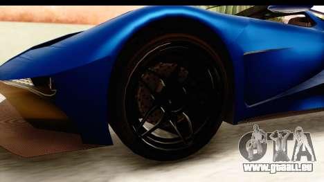 GTA 5 Vapid FMJ SA Style pour GTA San Andreas vue arrière