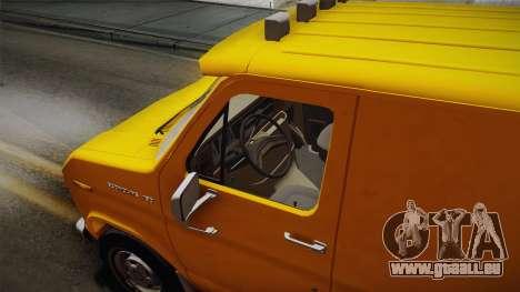Ford E-150 Commercial Van 1982 2.0 IVF pour GTA San Andreas vue arrière