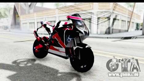 Dark Smaga Motorcycle with Frostbite 2 Logos pour GTA San Andreas vue de droite