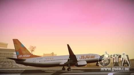 Boeing 737-800 Jeju Air für GTA San Andreas zurück linke Ansicht