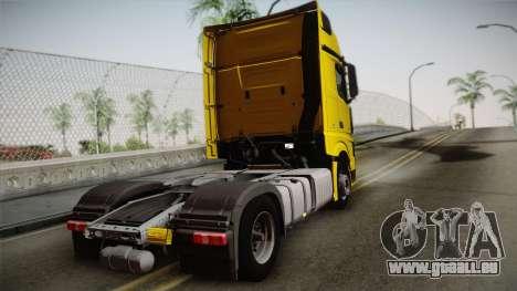 Mercedes-Benz Actros Mp4 4x2 v2.0 Gigaspace v2 pour GTA San Andreas laissé vue