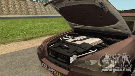 BMW X5M pour GTA San Andreas vue de côté