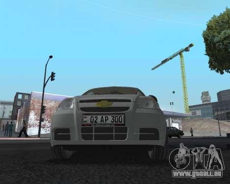Chevrolet Aveo Armenian pour GTA San Andreas vue de côté
