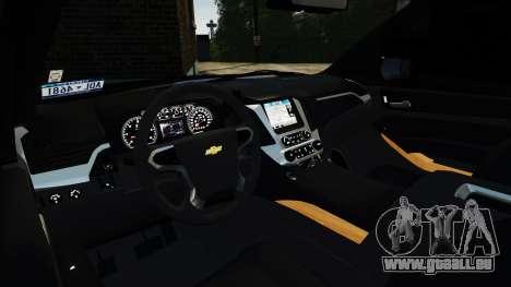 Chevrolet Tahoe 2015 V1.1 pour GTA 4 est un droit