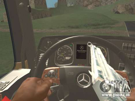 Mercedes-Benz Actros Mp4 4x2 v2.0 Gigaspace v2 pour GTA San Andreas vue intérieure