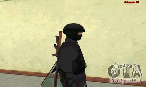 La peau de SWAT GTA 5 pour GTA San Andreas cinquième écran