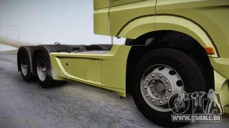 Mercedes-Benz Actros Mp4 6x4 v2.0 Steamspace für GTA San Andreas zurück linke Ansicht