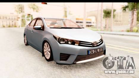 Toyota Corolla 2014 IVF für GTA San Andreas zurück linke Ansicht