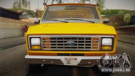 Ford E-150 Commercial Van 1982 2.0 IVF pour GTA San Andreas vue de droite