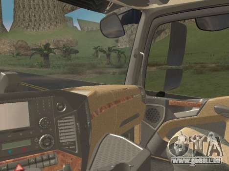 Mercedes-Benz Actros Mp4 6x4 v2.0 Steamspace v2 pour GTA San Andreas vue de dessous
