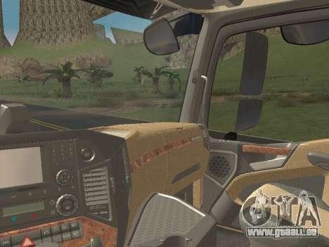 Mercedes-Benz Actros Mp4 v2.0 Tandem Steam für GTA San Andreas Unteransicht