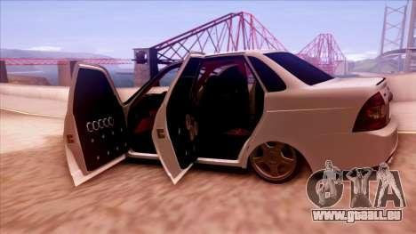 Lada Priora Autozvuk v.1 pour GTA San Andreas vue de côté
