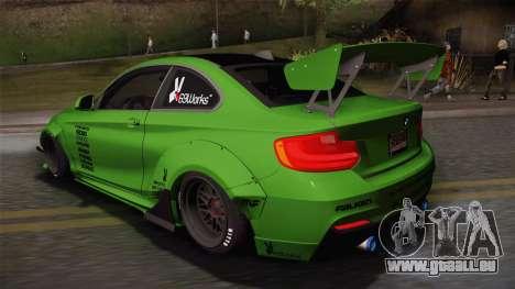 BMW M235i 69Works pour GTA San Andreas laissé vue
