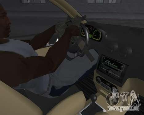 Chevrolet Aveo Armenian pour GTA San Andreas vue de dessus