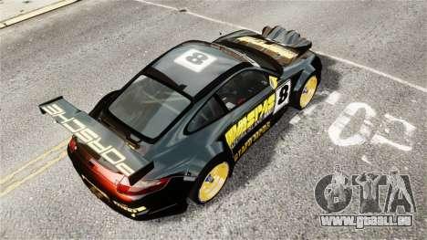 Porsche Rallye Vespas 911 GT3 RSR pour GTA 4 Vue arrière de la gauche