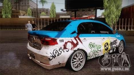 Volkswagen Voyage G6 Pmerj Graffiti für GTA San Andreas linke Ansicht