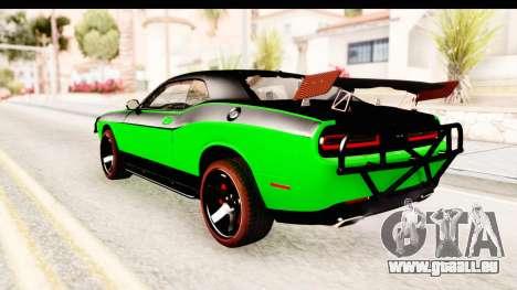Dodge Challenger F&F 7 pour GTA San Andreas laissé vue