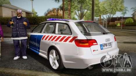 Audi RS6 Hungarian Police pour GTA San Andreas laissé vue