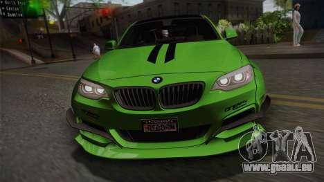 BMW M235i 69Works pour GTA San Andreas vue de droite