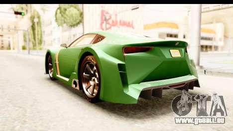 GTA 5 Emperor ETR1 pour GTA San Andreas vue de droite