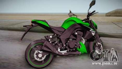 Kawasaki Z1000 2013 für GTA San Andreas linke Ansicht