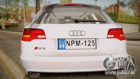 Audi RS6 Hungarian Police pour GTA San Andreas vue de droite