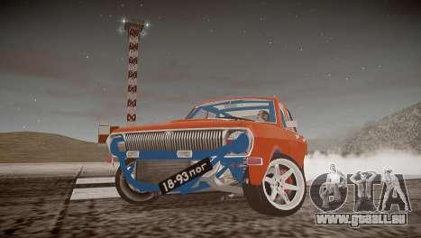 GAZ 24 pour GTA 4 Vue arrière de la gauche