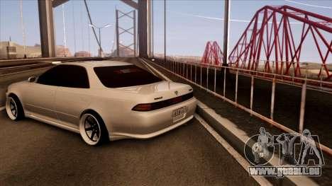 Toyota Mark 2 für GTA San Andreas zurück linke Ansicht