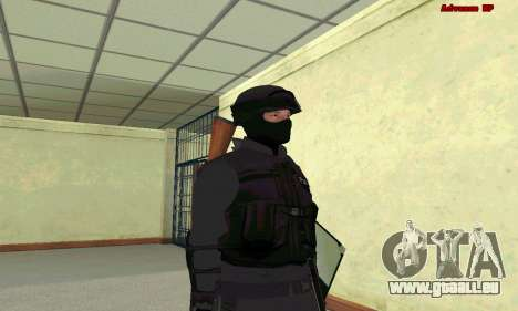 La peau de SWAT GTA 5 pour GTA San Andreas deuxième écran