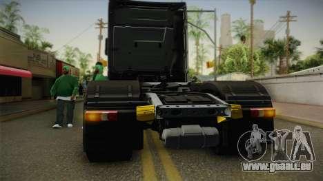 Mercedes-Benz Actros Mp4 6x4 v2.0 Steamspace v2 pour GTA San Andreas vue intérieure