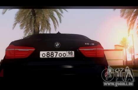 BMW X6M BULKIN SAMP EDITION pour GTA San Andreas vue de droite