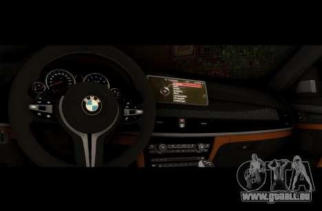 BMW X6M BULKIN SAMP EDITION pour GTA San Andreas vue arrière