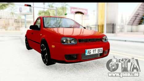 Volkswagen Golf Mk4 Pickup für GTA San Andreas rechten Ansicht