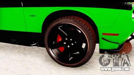 Dodge Challenger F&F 7 für GTA San Andreas Rückansicht