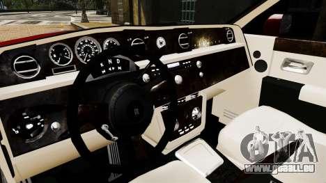 Rolls-Royce Phantom LWB V2.0 pour GTA 4 est une vue de l'intérieur