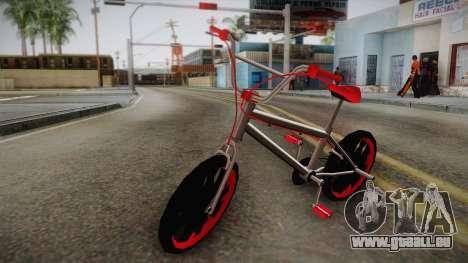 Dark Red BMX für GTA San Andreas