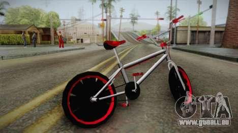 Dark Red BMX für GTA San Andreas linke Ansicht